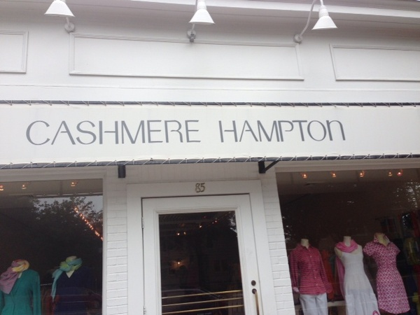 Cashmere signifies comfort and luxury and as such is part of the tribal uniform of the Hamptons. See?